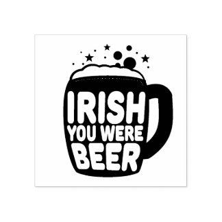 Irlandés usted era cerveza sello de caucho