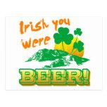 Irlandés usted era cerveza tarjeta postal