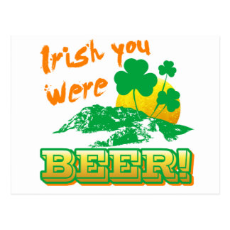 Irlandés usted era cerveza postal