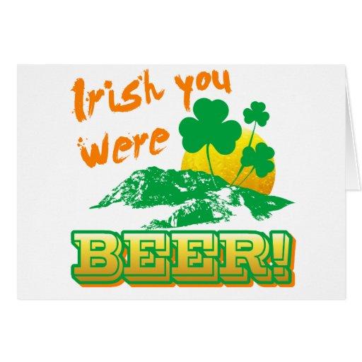 Irlandés usted era cerveza tarjetón