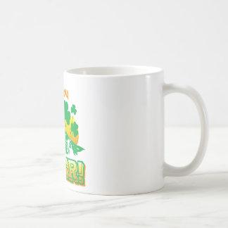 Irlandés usted era cerveza taza básica blanca