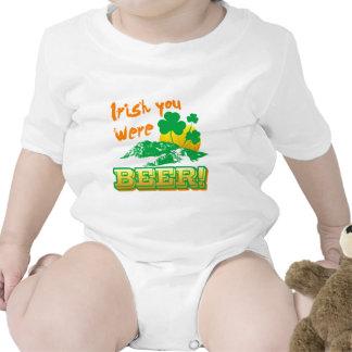 Irlandés usted era cerveza trajes de bebé