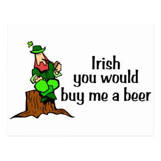Irlandés usted me compraría un Leprechaun de la Tarjeta Postal