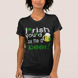 irlandés usted me compraría una cerveza camiseta