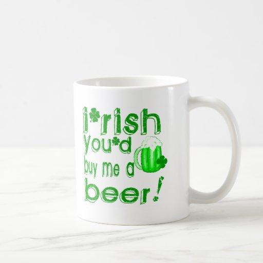 Irlandés usted me compraría una cerveza taza