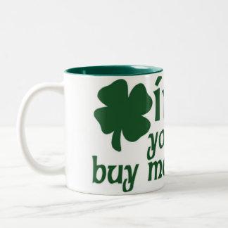 Irlandés usted me compraría una cerveza taza dos tonos