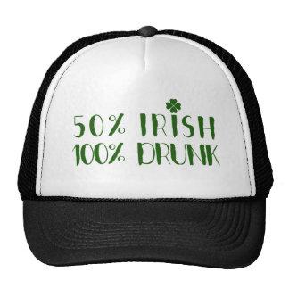 Irlandés verde del diseño el 50% del texto el 100% gorro de camionero