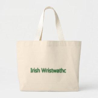 Irlandés Wristwathc Bolsa Tela Grande