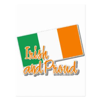 irlandés y orgulloso tarjetas postales