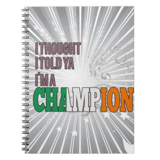 Irlandés y un campeón libreta