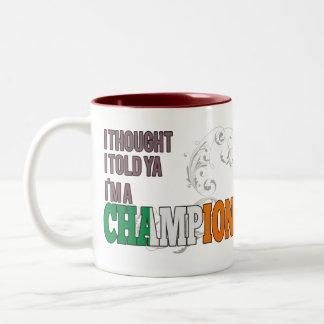 Irlandés y un campeón tazas