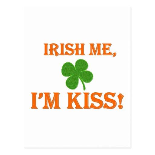 Irlandés yo soy beso postal
