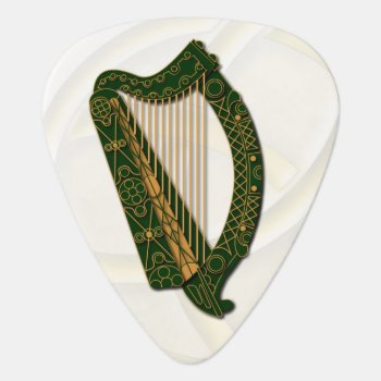 Irland's Coat Of Arms Harp -guitar Pic Guitar Pick by LilithDeAnu at Zazzle