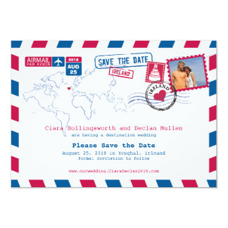 Irleand Airmail | Save the Date Card