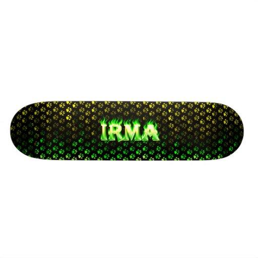 Irma green fire Skatersollie skateboard