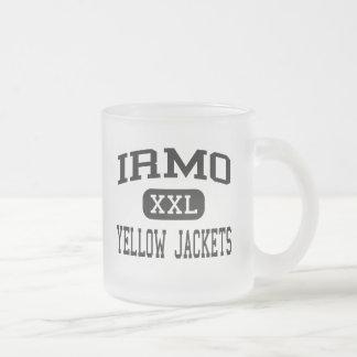 Irmo - Yellow Jackets - High - Columbia 10 Oz Frosted Glass Coffee Mug