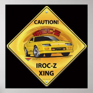 IROC84-2Black Poster