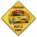 "IROC84-2plain Statuette<br><div class=""desc"">Caution! Camaro IROC-Z XING</div>"