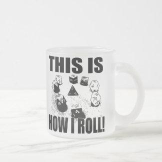IROLL1 FROSTED GLASS COFFEE MUG