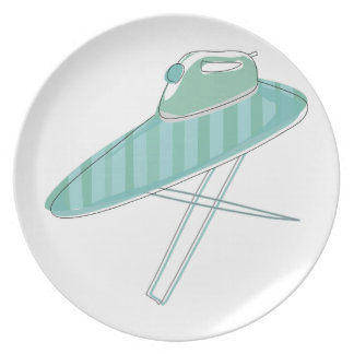 Iron and Board Dinner Plates