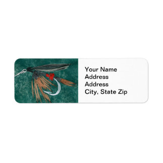 Iron Blue Dun Trout Fly Return Address Label