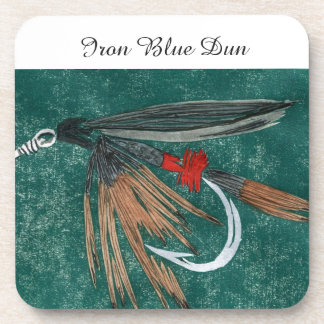 """""""Iron Blue Dun"""" Trout Wet Fly Coaster"""