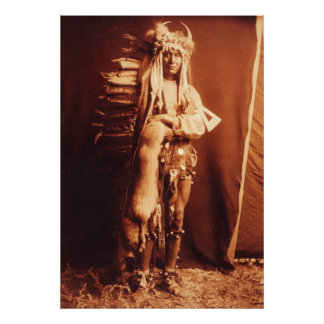 Iron Breast , a Piegan Native American Indian Poster