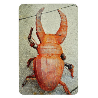 Iron bug rectangular photo magnet