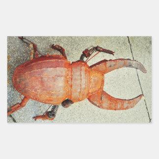 Iron bug rectangular sticker