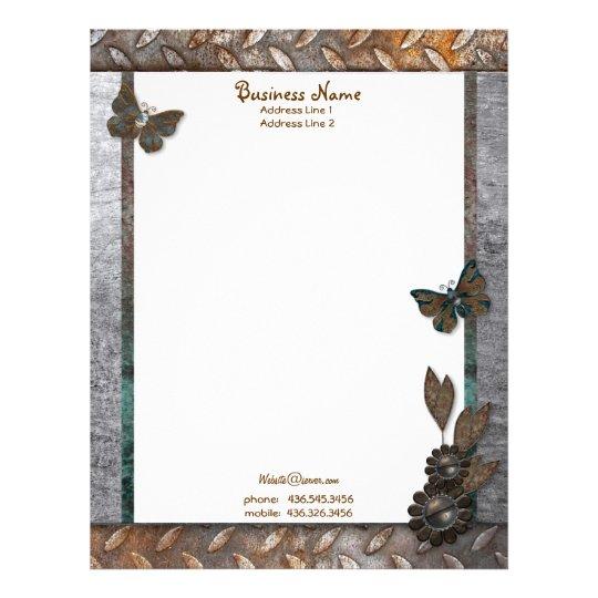 Iron Butterfly Garden Letterhead
