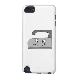 Iron Cartoon Gray and Black on White iPod Touch (5th Generation) Case