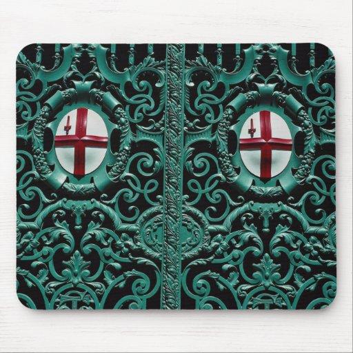 Iron cast portal, city of London, England Mouse Pad