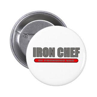 Iron Chef Parody Pinback Button