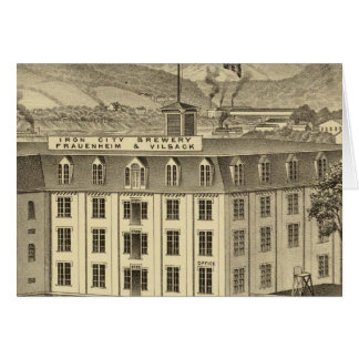 Iron City Brewery, Frauenheim and Vilsack Greeting Card