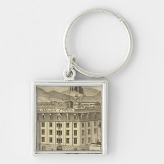 Iron City Brewery, Frauenheim and Vilsack Silver-Colored Square Keychain