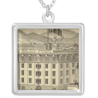 Iron City Brewery, Frauenheim and Vilsack Square Pendant Necklace