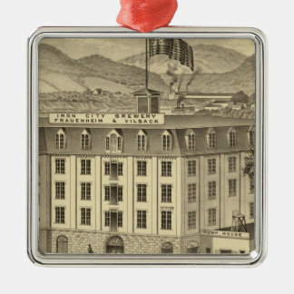 Iron City Brewery, Frauenheim and Vilsack Square Metal Christmas Ornament