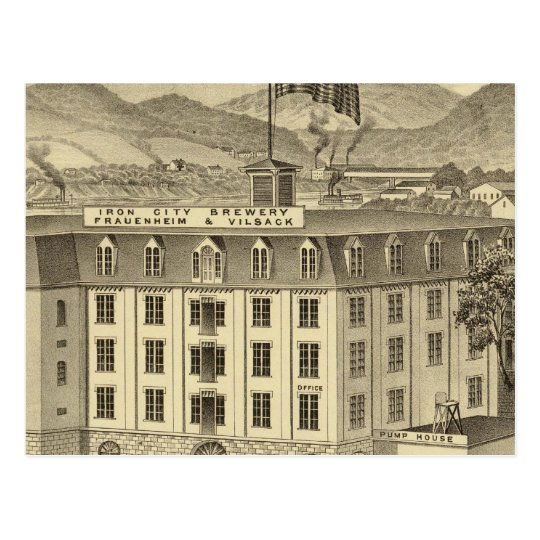 Iron City Brewery, Frauenheim and Vilsack Postcard
