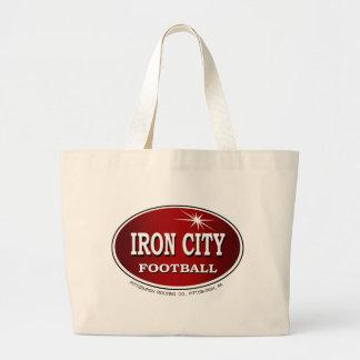IRON CITY FOOTBALL LARGE TOTE BAG