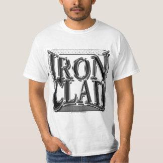 """Iron Clad"" Steel type design T Shirt"