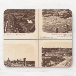 Iron clads, Engine Hero, rebel lines, buildings Mouse Pad