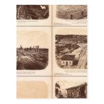 Iron clads, Engine Hero, rebel lines, buildings Postcard