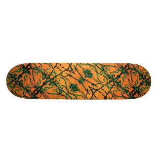 Iron Collage Decorative Motif Custom Skateboard