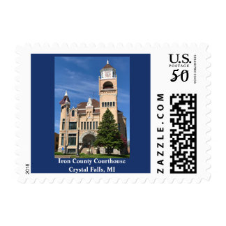 Iron County Courthouse, Crystal Falls, MI Stamps