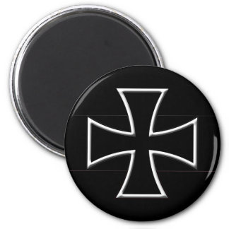 Iron Cross 2 Inch Round Magnet