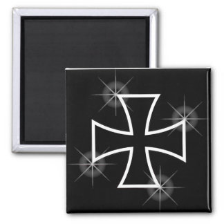 Iron Cross 2 Inch Square Magnet