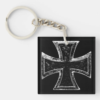 Iron Cross Acrylic Keychain