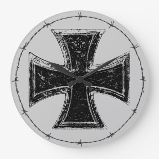 Iron Cross Acrylic Wall Clock