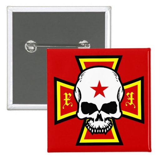 Iron Cross and Skull Pin