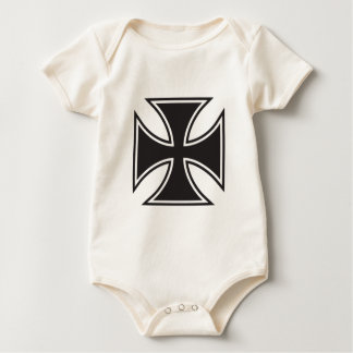 Iron cross baby bodysuit